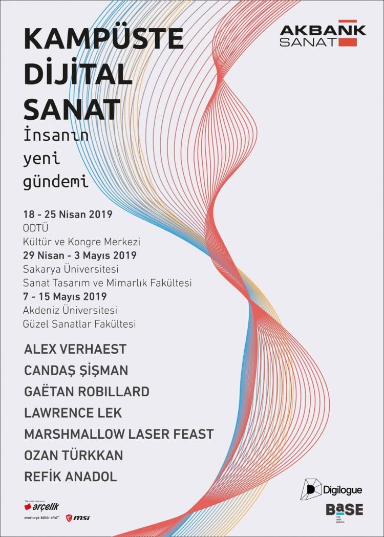 """Akbank Sanat işbirliğiyle düzenlenen """"Kampüste Dijital Sanat"""" sergisi"""